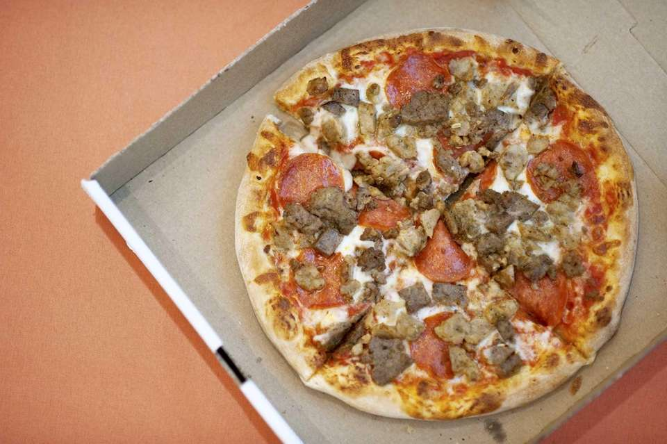 The Meat Lover's pizza comes with sausage, meatball