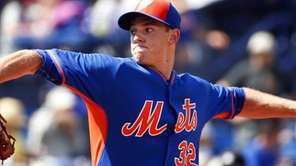 Mets starting pitcher Steven Matz works in the