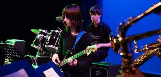 Brian D?Addario, of Hicksville, plays the bass as