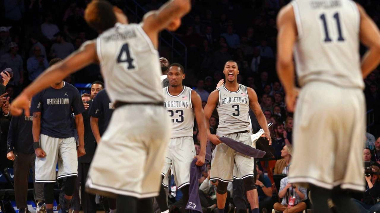 Georgetown Hoyas forward Aaron Bowen and forward Mikael