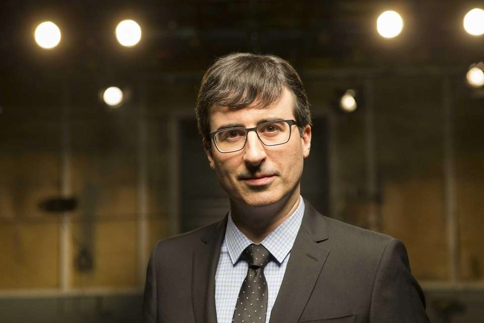 British political satirist John Oliver was a staple