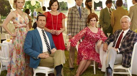 January Jones as Betty Francis, left, Jon Hamm
