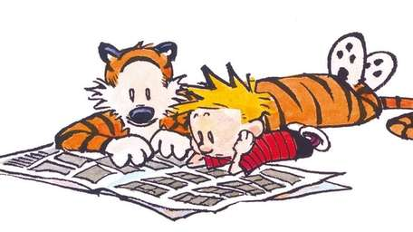 Best buddies Calvin and Hobbes, from