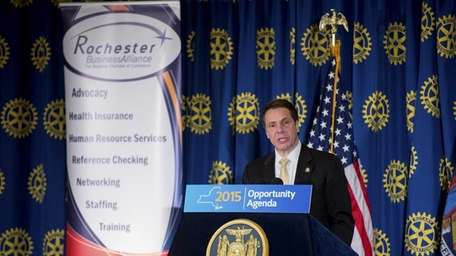 Gov. Andrew M. Cuomo, in Rochester on March