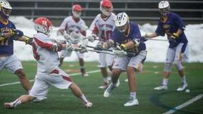 Stony Brook's Brody Eastwood takes a shot on