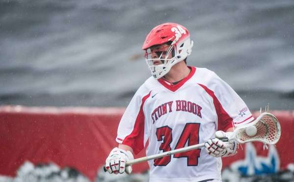 Stony Brook's Chris Hughes moves down the field