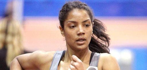 Bay Shore's Jasmin Reyes runs during the girls