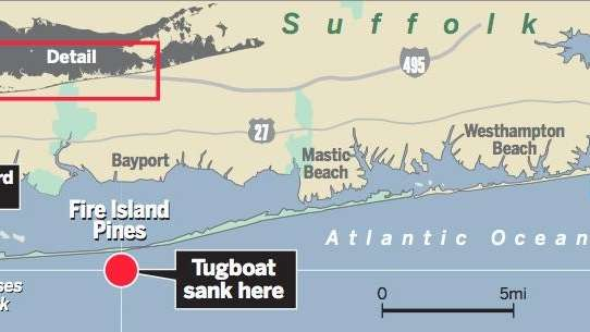 One tugboat crew member died and three others