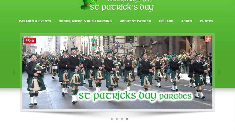 Celebrating St. Patrick's Day is a website that