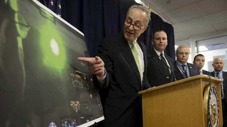 U.S. Senator Charles Schumer is joined by commercial