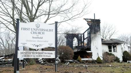 The First Universalist Church in Southold Sunday morning