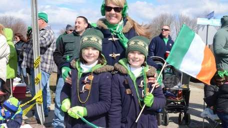 Sayville's Alisa Kremer-Parrott and her 8-year-old twin daughters