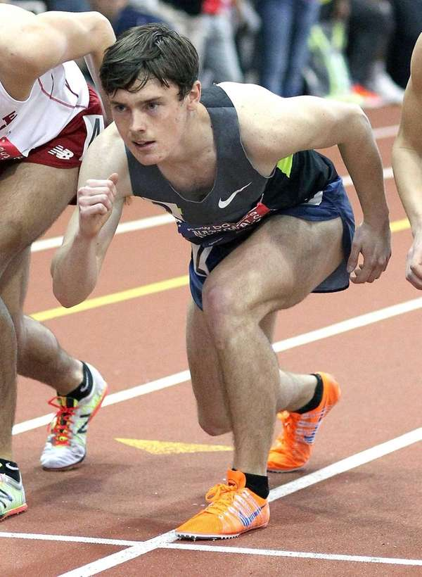 East Northport's Mike Brannigan gets set for the