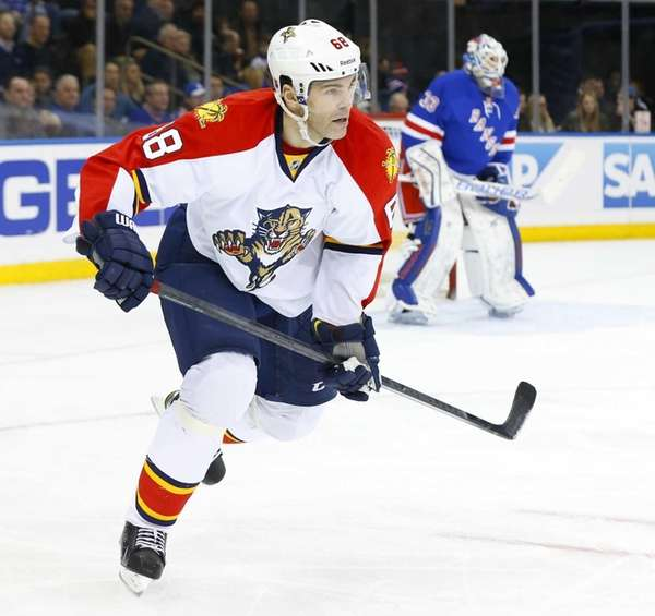 Jaromir Jagr of the Florida Panthers skates in