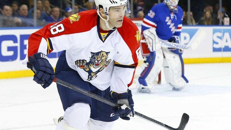 Jaromir Jagr of the Florida Panthers skates in