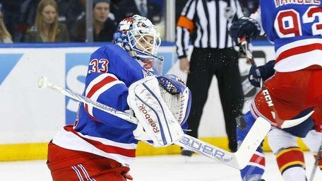 Cam Talbot #33 of the New York Rangers
