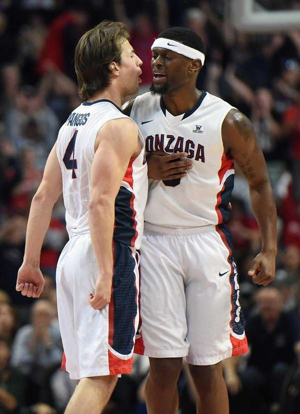 Kevin Pangos #4 and Gary Bell Jr. #5