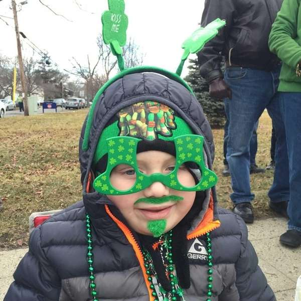 Jack Andruszkiewicz, 5, of Sayville, grew some green