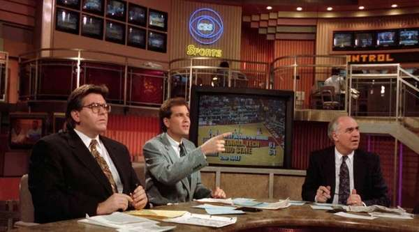 The CBS-TV sports anchors team of Mike Francesa,