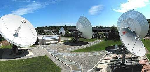 Globecomm headquarters in Hauppauge is pictured in this