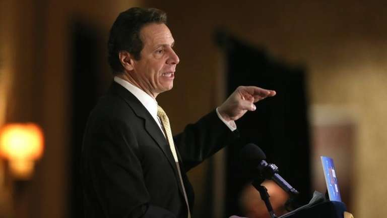 Gov. Andrew M. Cuomo address a group during