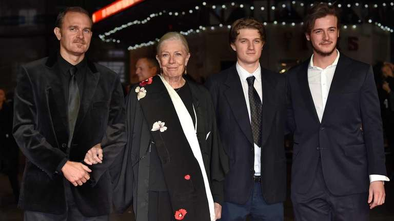 Actress Vanessa Redgrave with her son and grandsons