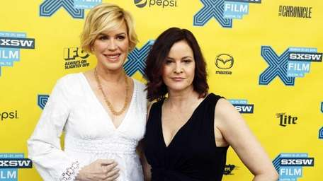 Molly Ringwald, left, and Ally Sheedy walk the