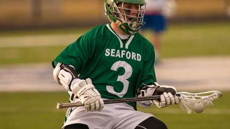 Seaford's Danny Connell looks to pass during a