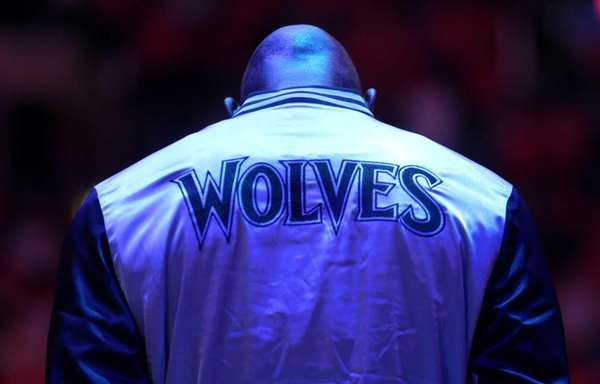 Kevin Garnett of the Minnesota Timberwolves stands during