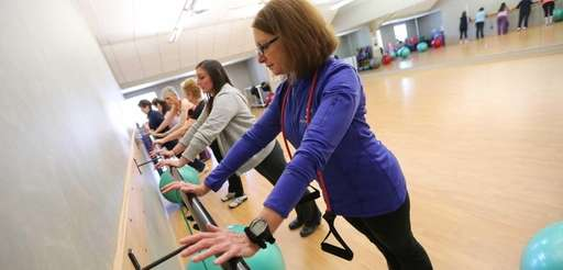 Jacqui Errico, right, leads her Strength for Life