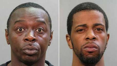 William Byrd, 43, of Uniondale, left, and Jamel