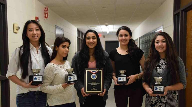A five-student team from Bethpage High School took