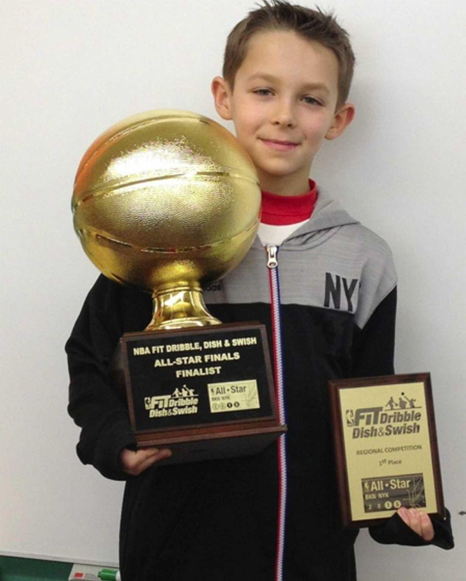 Parker Wiesner, 9, a fourth-grader at Landing Elementary