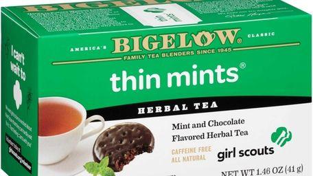 Thin Mints herbal tea from Bigelow Tea is