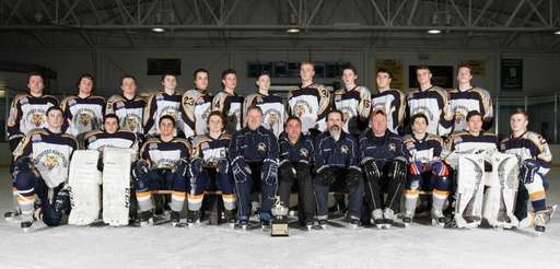 The Northport-Huntington varsity ice hockey team poses for