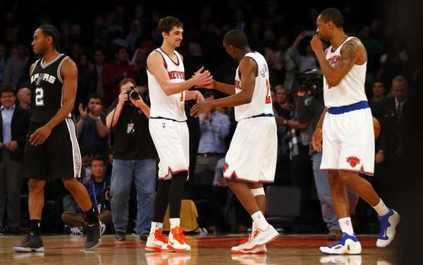 Alexey Shved, Langston Galloway and Lance Thomas of