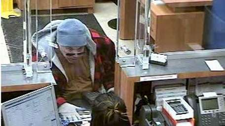 A would-be bank robber was foiled Tuesday, Feb.