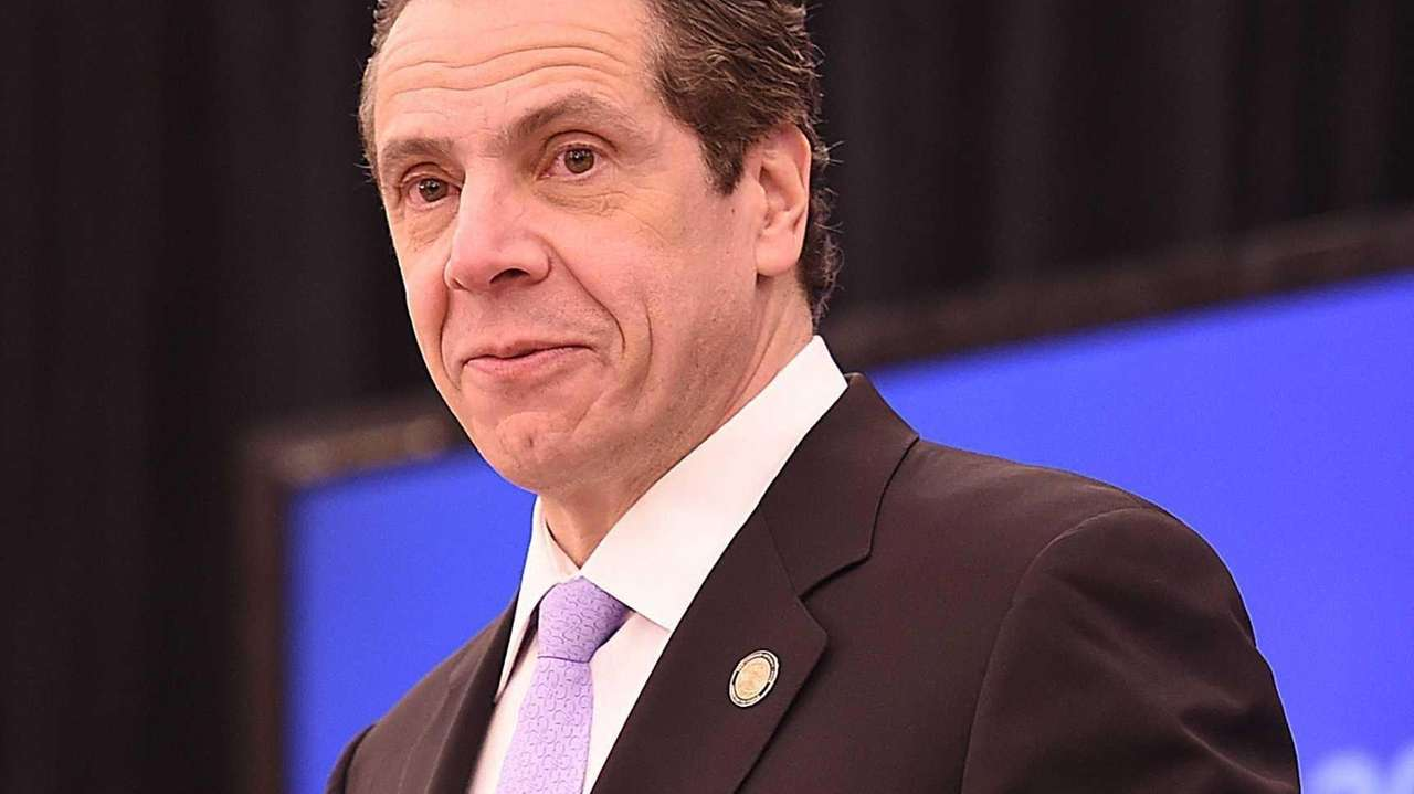 Governor Cuomo during a press conference on Jan