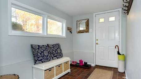 The mudroom in the completely renovated Huntington split-level