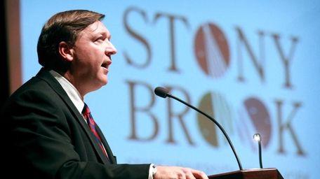 Stony Brook University president Dr. Samuel L. Stanley