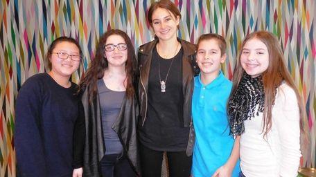 Kidsday reporters Eugenia Woo, Molly Miller, Ethan Berch