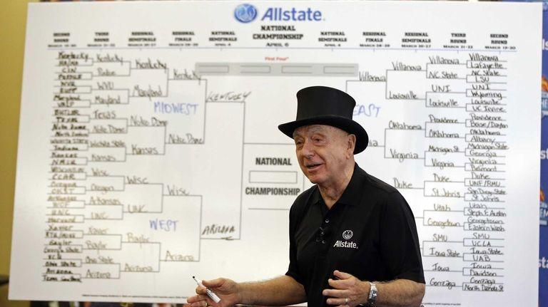 Basketball analyst Dick Vitale explains his tournament picks