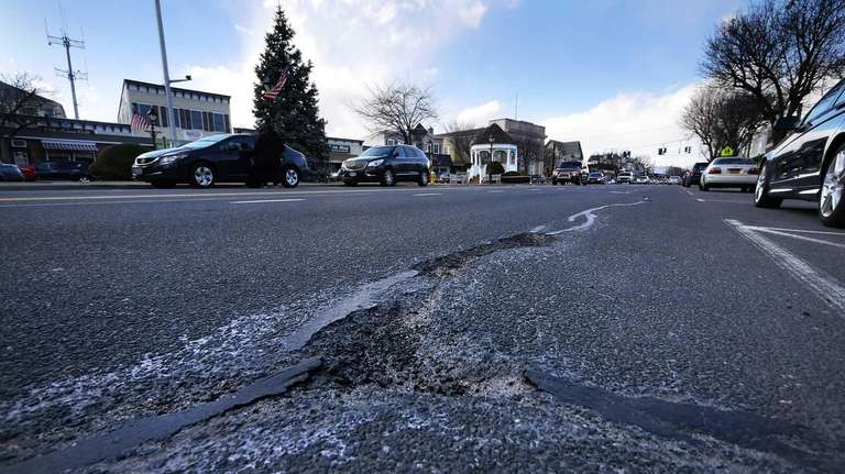 Route 110 is shown in Amityville on Wednesday,