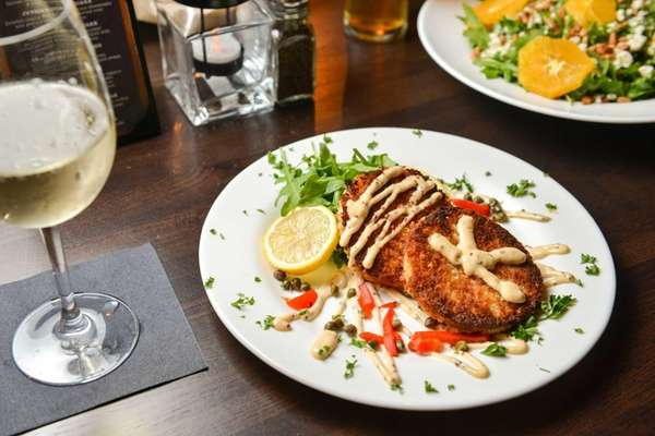 Crab cakes made of lump crab meat are
