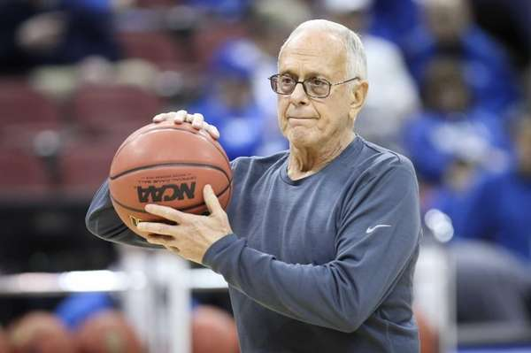 SMU coach Larry Brown watches his team during