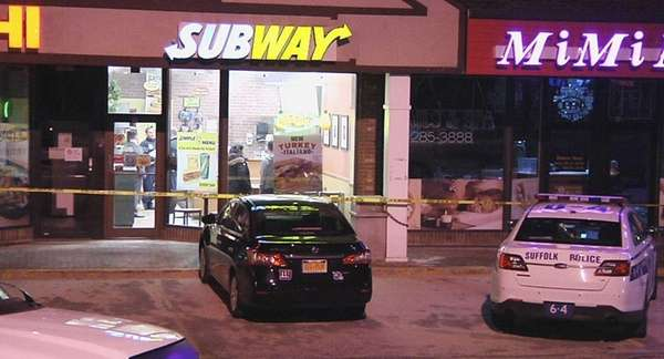 Police are investigating a robbery at a Subway