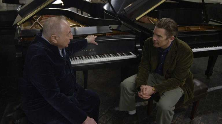Seymour Bernstein and Ethan Hawke in Hawke's