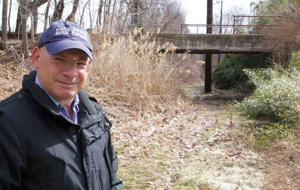 Howard Kroplick, North Hempstead Town Historian, stands near