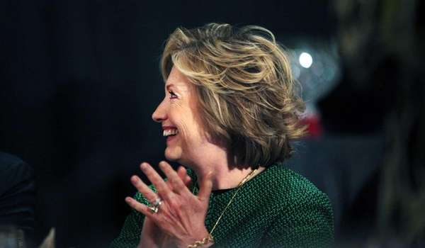 Former Secretary of State Hillary Clinton during a