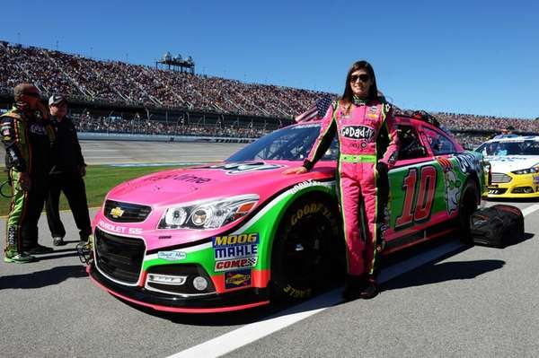 Danica Patrick, driver of the GoDaddy Breast Cancer